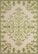 Nourison Aloha Transitional Green 5'3″ x 7'5″ ALH12GRN5X8