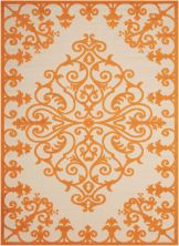 "Nourison Aloha Orange 7'10"" x 10'6″ ALH12RNG8X11"