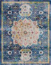 "Nourison Ankara Global Blue 8'10"" x 11'10"" ANR03BL9X12"