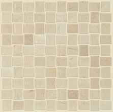Shaw Floors Ceramic Solutions Chateau Basketweave Mosaic Crema Marfil 00200_CS22Z