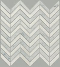 Shaw Floors Ceramic Solutions Chateau Chevron Mosaic Biancocarrara/Thassos 00151_CS23Z