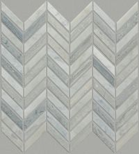Shaw Floors Ceramic Solutions Chateau Chevron Mosaic Biancocarrara/Blue Grigio 00155_CS23Z