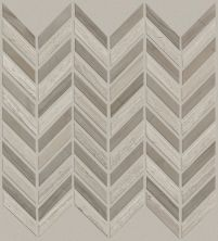 Shaw Floors Ceramic Solutions Chateau Chevron Mosaic Rockwood/Urban Grey 00555_CS23Z
