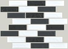 Shaw Floors Ceramic Solutions Geoscapes Random  Linear Black/White Blend 00151_CS45X
