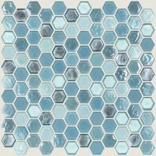 Shaw Floors Ceramic Solutions Molten Hexagon Glass Santorini 00400_CS52V