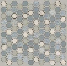 Shaw Floors Ceramic Solutions Molten Hexagon Glass Pewter 00505_CS52V