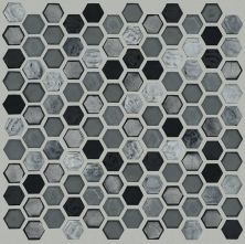 Shaw Floors Ceramic Solutions Molten Hexagon Glass Obsidian 00555_CS52V