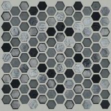 Shaw Floors Ceramic Solutions Molten Hexagon Glass Obsidian 00555_CS52V