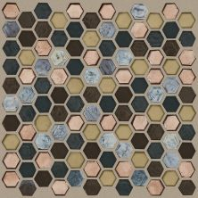 Shaw Floors Ceramic Solutions Molten Hexagon Glass Bronze 00675_CS52V