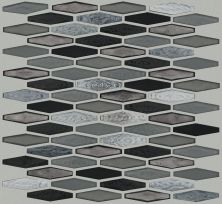 Shaw Floors Ceramic Solutions Molten Stretch Hexagon Glass Obsidian 00555_CS54V