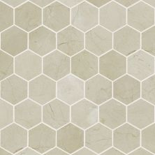 Shaw Floors Ceramic Solutions Chateau Hexagon Mosaic Crema Marfil 00200_CS56P