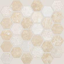 Shaw Floors Ceramic Solutions Boca Hexagon Textured Mosaic Coastal 00210_CS81M