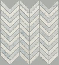 Shaw Floors SFA Pearl Chevron Mosaic Biancocarrara/Thassos 00151_SA31A
