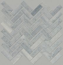 Shaw Floors SFA Pearl Herringbone Mosaic Blue Grigio 00550_SA34A
