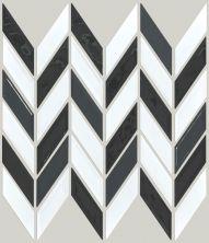 Shaw Floors Home Fn Gold Ceramic Geoscapes Chevron Black/White Blend 00151_TG46C