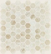 Shaw Floors Home Fn Gold Ceramic Hamptons Hex Honed Mosaic Impero Reale 00200_TG49B