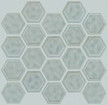 Shaw Floors Home Fn Gold Ceramic Geoscapes Hexagon Light Grey 00500_TGJ78