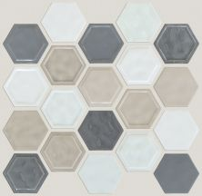 Shaw Floors Home Fn Gold Ceramic Geoscapes Hexagon Warm Blend 00520_TGJ78