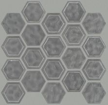 Shaw Floors Home Fn Gold Ceramic Geoscapes Hexagon Dark Gray 00550_TGJ78