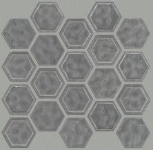 Shaw Floors Home Fn Gold Ceramic Geoscapes Hexagon Dark Gray 00550_TGJ78