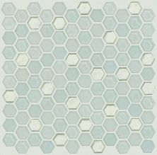 Shaw Floors Home Fn Gold Ceramic Molten Hexagon Glass Platinum 00150_TGJ82