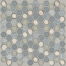 Shaw Floors Home Fn Gold Ceramic Molten Hexagon Glass Pewter 00505_TGJ82