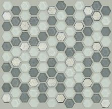 Shaw Floors Home Fn Gold Ceramic Molten Hexagon Glass Nickel 00510_TGJ82