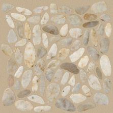 Shaw Floors Home Fn Gold Ceramic River Rock Sliced Pearl White 00100_TGL64