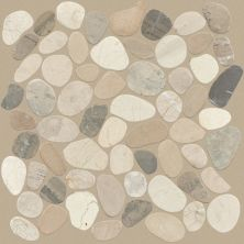 Shaw Floors Home Fn Gold Ceramic River Rock Sliced Harmony Warm Blend 00125_TGL64