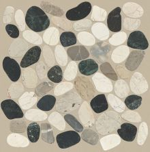Shaw Floors Home Fn Gold Ceramic River Rock Sliced Tranquil Cool Blend 00159_TGL64