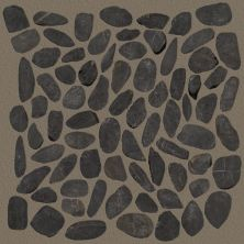 Shaw Floors Home Fn Gold Ceramic River Rock Sliced Volga Black 00900_TGL64