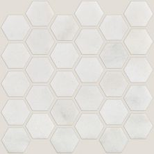 Shaw Floors Home Fn Gold Ceramic Del Ray Hexagon Polished Mosai Pearl 00101_TGN17