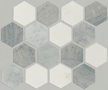 Shaw Floors Home Fn Gold Ceramic Estate Hexagon Mosaic Bianco C Blue G Thas 00511_TGN87