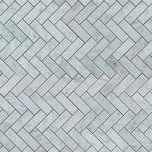 Shaw Floors Home Fn Gold Ceramic Estate Herringbone Mosaic Bianco Carrara 00150_TGN88