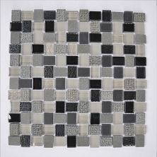 Casa Roma ® Glass Boutique Black (11.8″x11.8″ Marble Mosaic) CASF20265