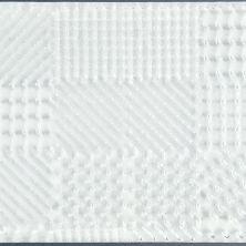 "Casa Roma ® Glass Vogue Super White (3""x12"" 3D Textured Brick) CASFA10312"