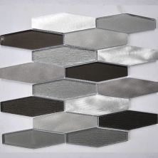 """Casa Roma ® Glass Boutique Grey (11.98""""x12.28"""" Stainless Steel Hexagon) CASG1501"""