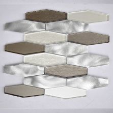 """Casa Roma ® Glass Boutique White (11.98""""x12.28"""" Stainless Steel Hexagon) CASG1503"""
