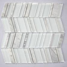 """Casa Roma ® Glass Boutique White (11.6""""x11.8"""" Marble Chevron) CASH753R"""