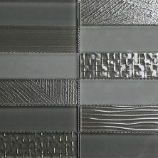 Casa Roma ® Glass Brix Ash (2×8 Stacked Mosaic) CASMG05228MCP