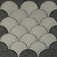 Casa Roma ® Waterfall Warm Grey (10″x11″ Scallop Mosaic) CASMON02TO