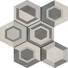 Casa Roma ® Cassini Geometric Cool (8″x7″ Hexagon Decor) CASR4DT