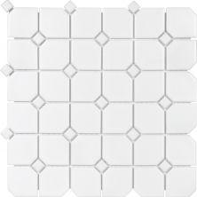 Casa Roma ® Wall Art with White Dot (2″x2″ Matte Mosaic) SAN51080