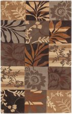 Surya Cosmopolitan Cos-8817 Dark Brown 2'0″ x 3'0″ COS8817-23