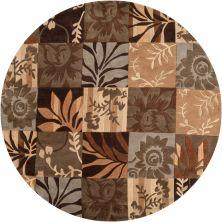 Surya Cosmopolitan Cos-8817 Dark Brown 8'0″ x 8'0″ Round COS8817-8RD