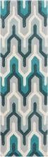 Surya Cosmopolitan Cos-9175 Teal 2'6″ x 8'0″ Runner COS9175-268