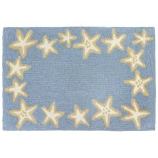 Liora Manne Capri Starfish Border Blue 2'0″ x 3'0″ CAP23171003