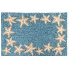 Liora Manne Capri Starfish Border Blue 1'8″ x 2'6″ CAP12171004