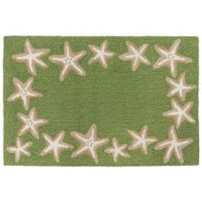 Liora Manne Capri Starfish Border Green 2'0″ x 3'0″ CAP23171006