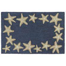 Liora Manne Capri Starfish Border Blue 2'0″ x 3'0″ CAP23171033